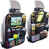 PUBAMALL Organizador para asiento trasero de automóvil y protector con señal de coche para bebé y bebés, asientos de tapicerí