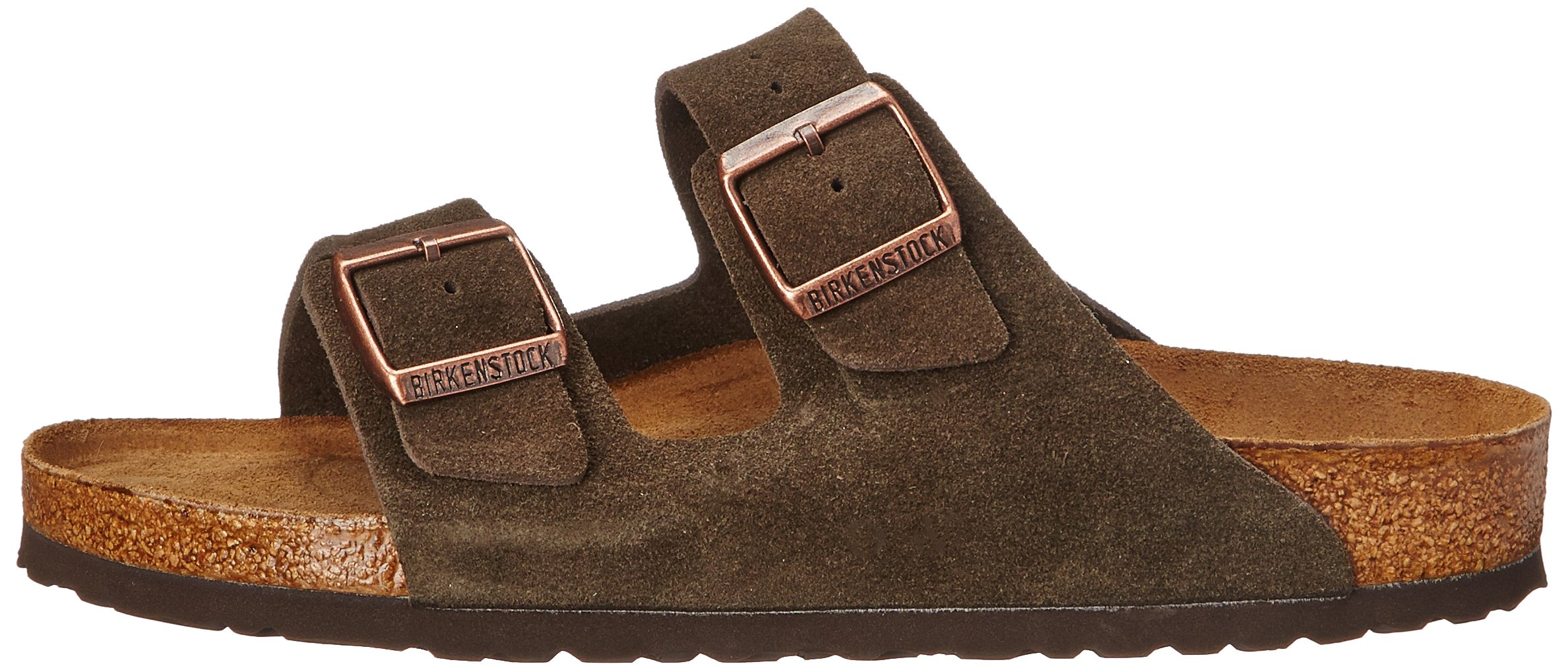 Birkenstock Unisex Arizona Mocha Suede Sandals - 35 N EU / 4-4.5 2A(N) US by Birkenstock (Image #5)