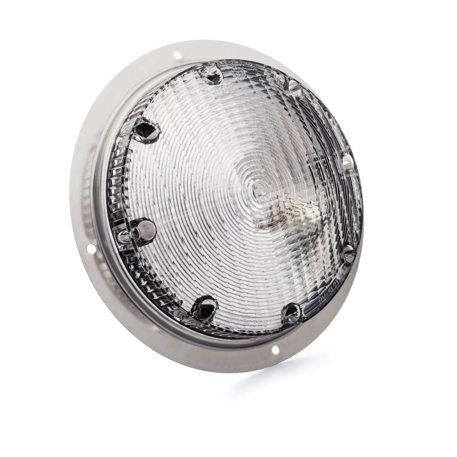 Lumitronics Surface Mount Porch Scare Light w//Mounting Gasket Mounting Hardware Included Featuring Stainless Steel Silver Base Feel Safe At Night With A Powerful Scare Light