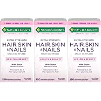 Nature's Bounty Extra Strength Hair Skin Nails, 150 Count, Pack of 3