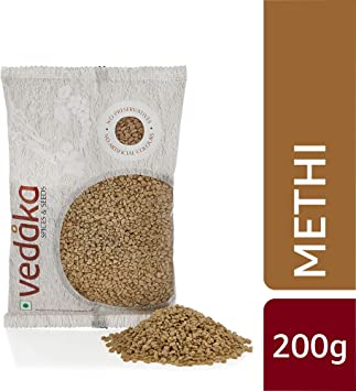 Amazon Brand - Vedaka Fenugreek (Methi), 200g