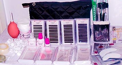 luxurypro Kit Extensión De Pestañas permanente imitación de visón pestañas individuales y ruso volumen pestañas 3d