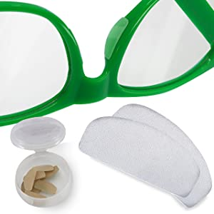 Setex Gecko Grip Ultra-Thin 0.6mm Anti-Slip Nose Pads for Eyeglasses (5 Clear Pair), USA Made, Micro-Structured Fibers, 0.6mm x 7mm x 16mm