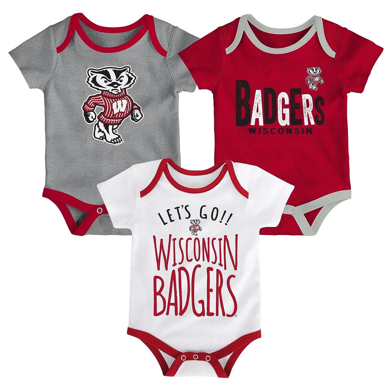 Gen 2 NCAA ウィスコンシン バッジャーズ 新生児&乳児 リトルテールゲーターボディスーツ、6-9ヶ月、ダークレッド B07BZ9CH9P