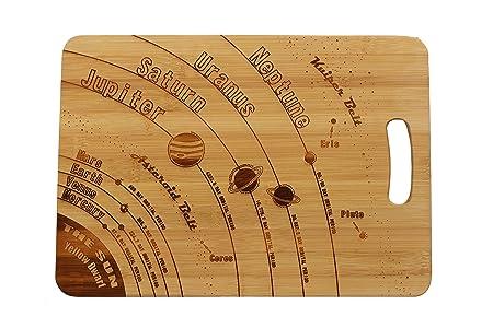 Die Solar System Platz Personliche Bambus Schneidebrett Laser