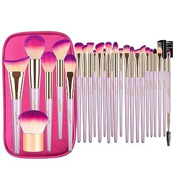 d6f5e0e0be38 Makeup Brush Set, JAF 26pcs Vegan Cruelty Free Hypoallergenic Unscented  Cute Rose Gold...