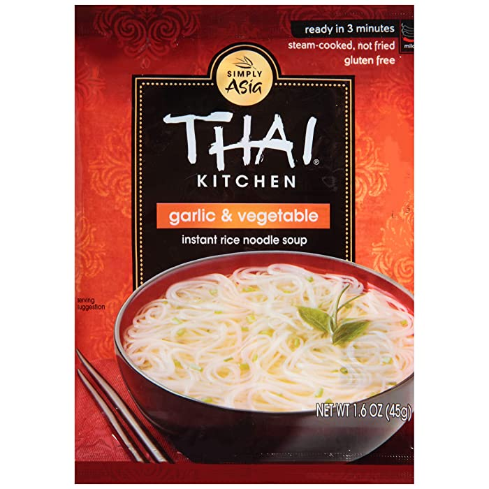 Thai Kitchen Gluten Free Garlic & Vegetable Instant Rice Noodle Soup, 1.6 oz