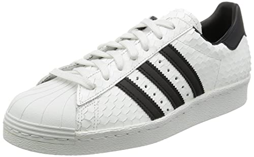 innovative design 0eb40 058f7 adidas Zapatillas Superstar 80s Blanco Blanco Negro  Amazon.es  Zapatos y  complementos