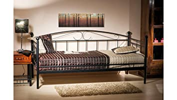 Justhome Ankara Bed Frame Double Bed Daybed Black 95x105x205 Amazon