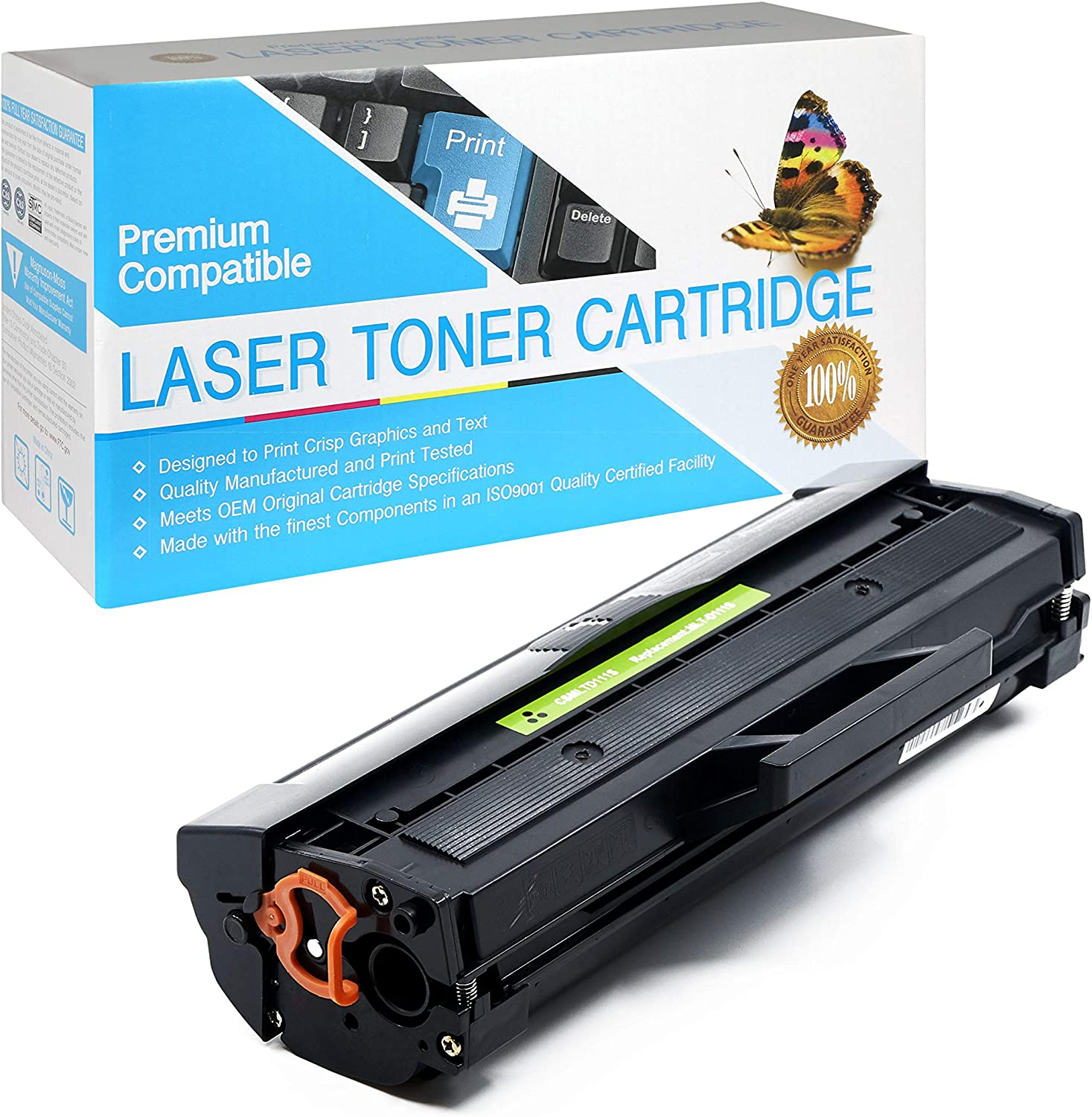 SuppliesOutlet Compatible Toner Cartridge Replacement for Samsung MLT-D111S Black,1 Pack MLTD111S for Use with Xpress M2071