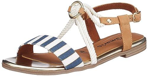 Tamaris 28104 Sandali con Cinturino alla Caviglia Donna Blu Navy