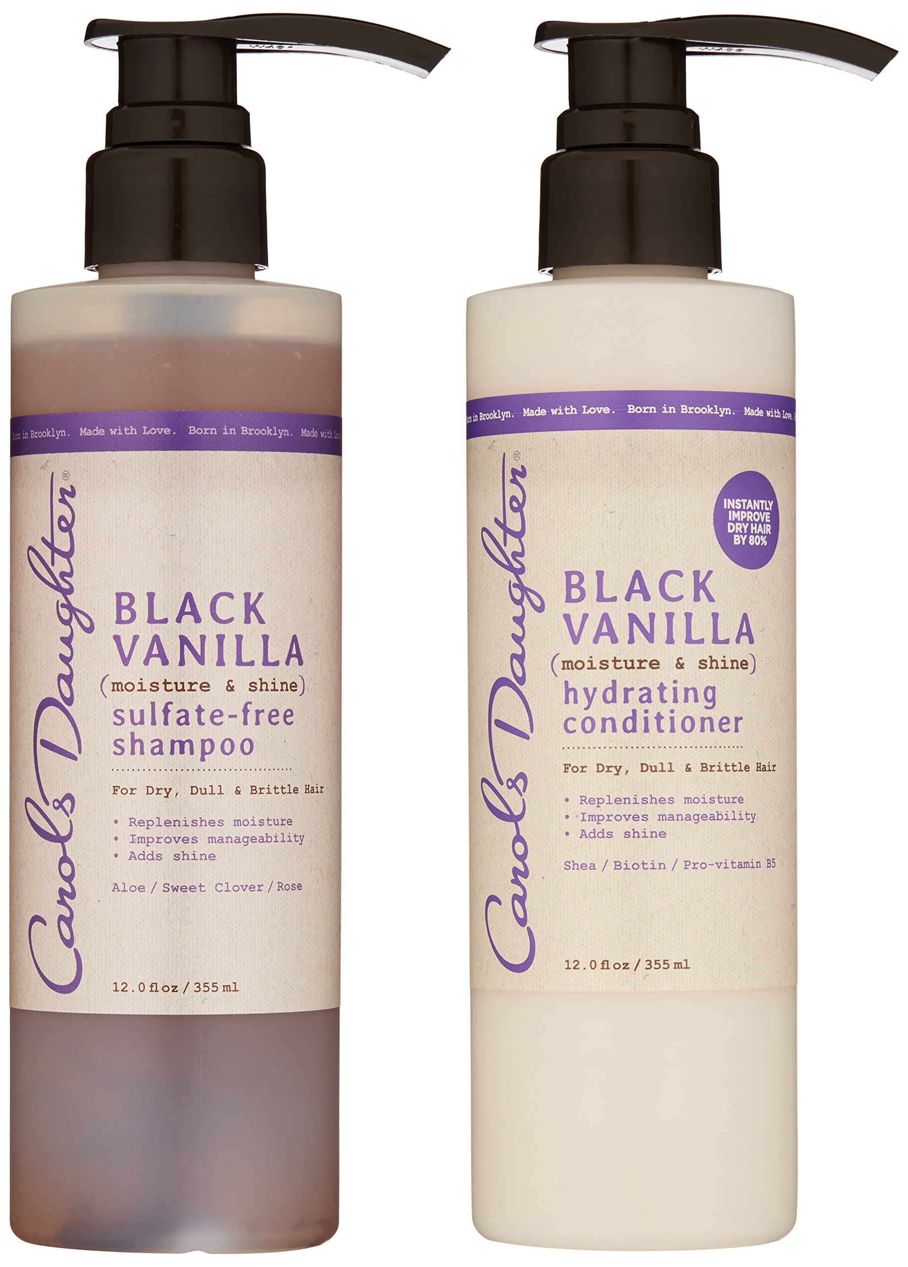 Carol's Daughter Black Vanilla Hair Care Gift Set for Dry/Dull & Brittle Hair