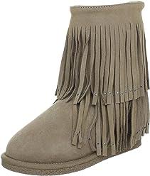 c3b9a224e0fa Koolaburra Women s Savannity Double Fringe Boot