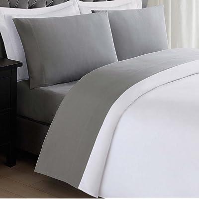 My World LHK-SHEETSET Solid Grey Twin XL Sheet Set: Home & Kitchen