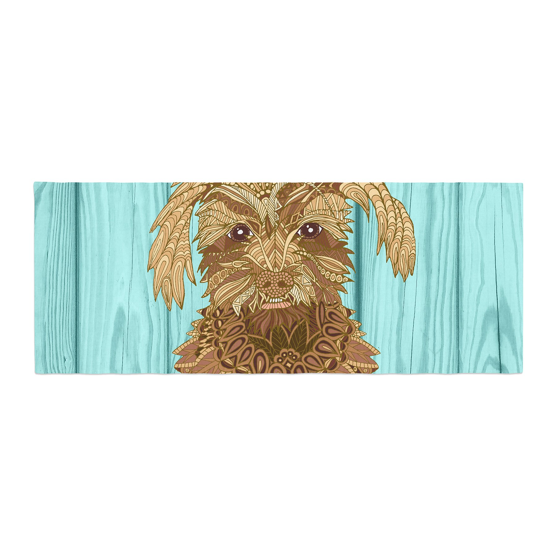 Kess InHouse Art Love Passion Gatsby the Great Brown Dog Bed Runner, 34'' x 86''