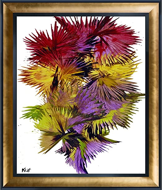 overstockArt Artist Abe Phoenix is Rising Series 1816022514 by Kris Haas Print On Canvas with Gold Laminose and Black Combo Frames