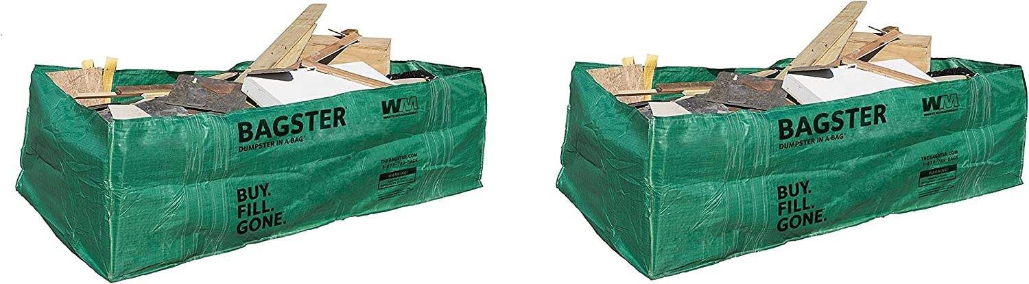 Bagster 3 CUYD Dumpster in aバッグ Pack of 2