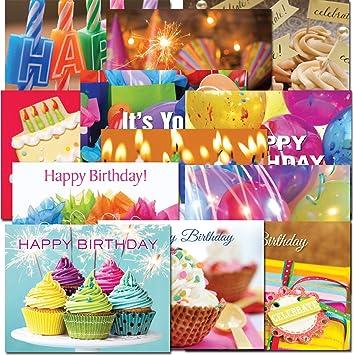 Amazon.com: Tarjetas postales: Docena de cumpleaños, Caja de ...