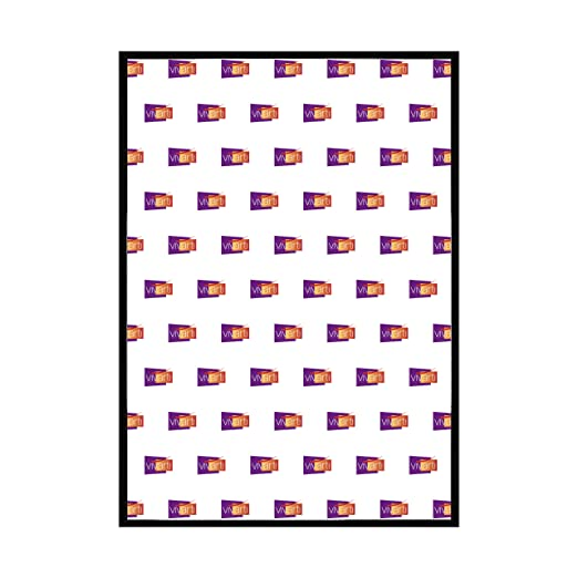 Vivarti Fino Negro Brillante Marco, Cartel tamaños, 61 x 91.5 cm,