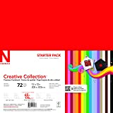 """Neenah Creative Collection Specialty Cardstock Starter Kit, 12"""" x 12"""", 65 lb, 18-Color Assortment, 72 Sheets (46408-02)"""