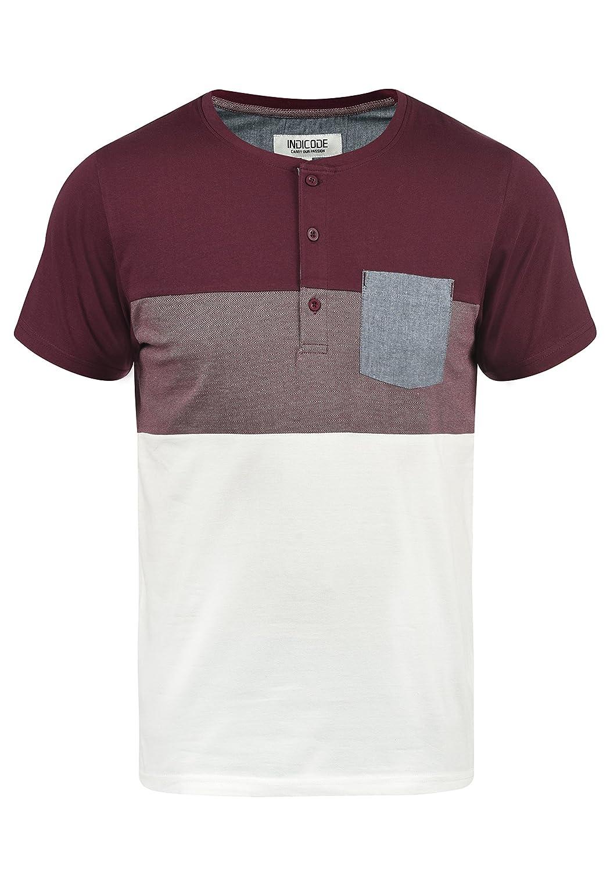 d2b9795b1882e Indicode Albert Camiseta Bá sica De Manga Corta T-Shirt para Hombre con  Cuello Grandad