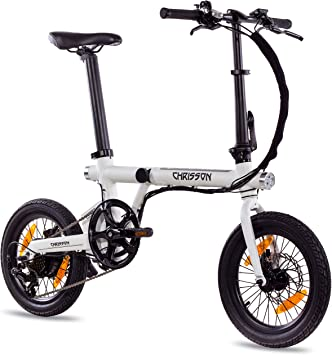 Chrisson ERTOS 16 - Bicicleta eléctrica plegable de 16 pulgadas ...