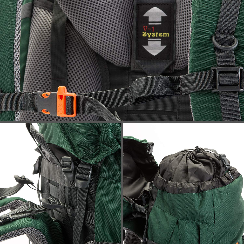 skandika Eiger 80+10 litros Protector Lluvia siibato de Emergencia Peso 2,8 Kg Mochila Trekking//monta/ñismo