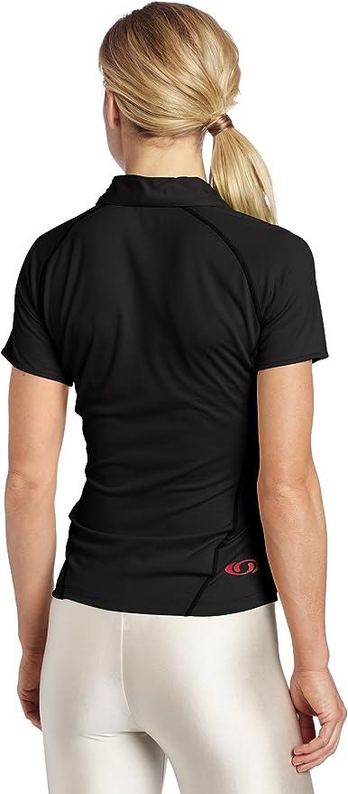 Salomon Moto de Las Mujeres Camiseta Polo, Mujer, Negro: Amazon.es ...