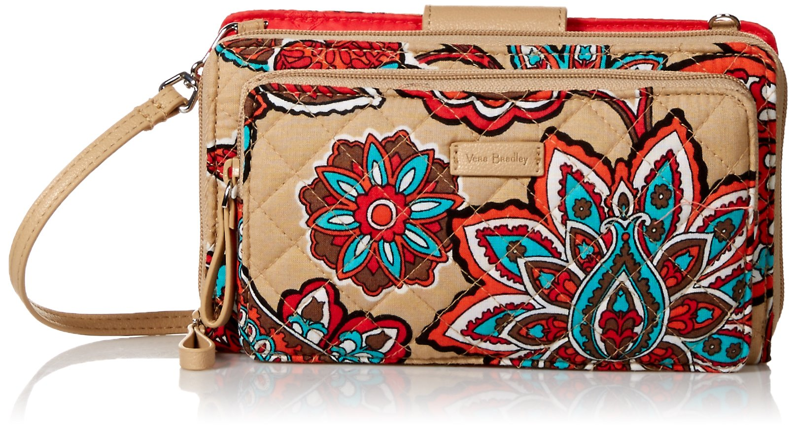Vera Bradley Iconic Deluxe All Together Crossbody, Signature Cotton, Desert Floral