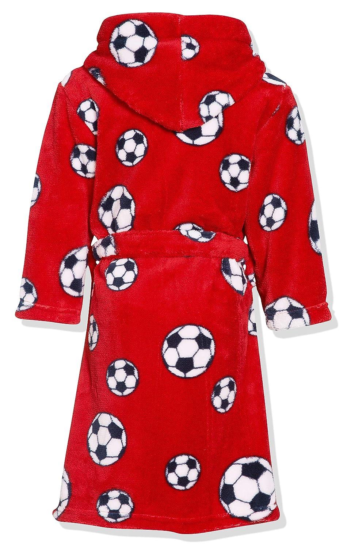 Playshoes Fleece-Bademantel Fußball Bata, Rot 8, 2 años (92 cm ...