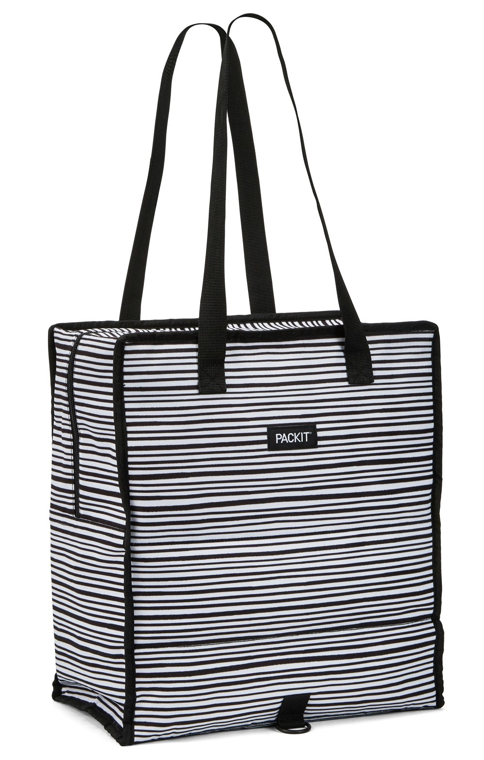 PackIt Freezable Grocery Shopping Bag with Zip Closure, Wobbly Stripes by PackIt (Image #3)