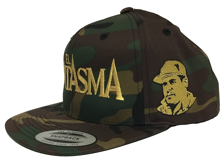 4fef2334fa0 EL FANTASMA Chapo Guzman 2 Logos Hat Camo Snapback at Amazon Men s Clothing  store