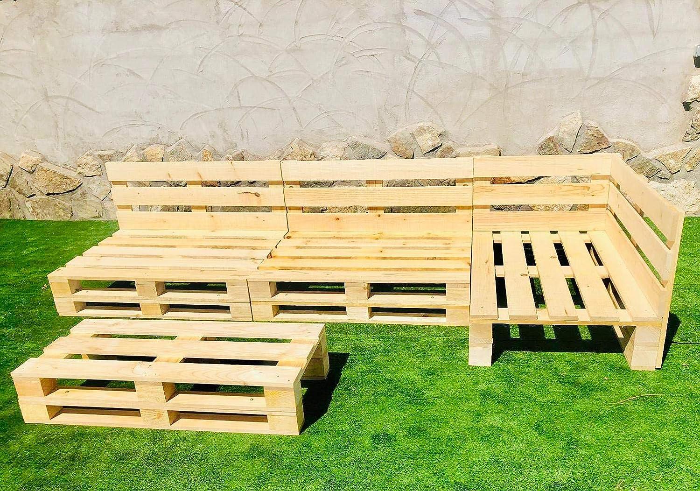 Conjunto RINCONERA con PALETS Europeos Mesa,Interior/Exterior NUEVOS A ESTRENAR 3,2m X 1,2m: Amazon.es: Hogar