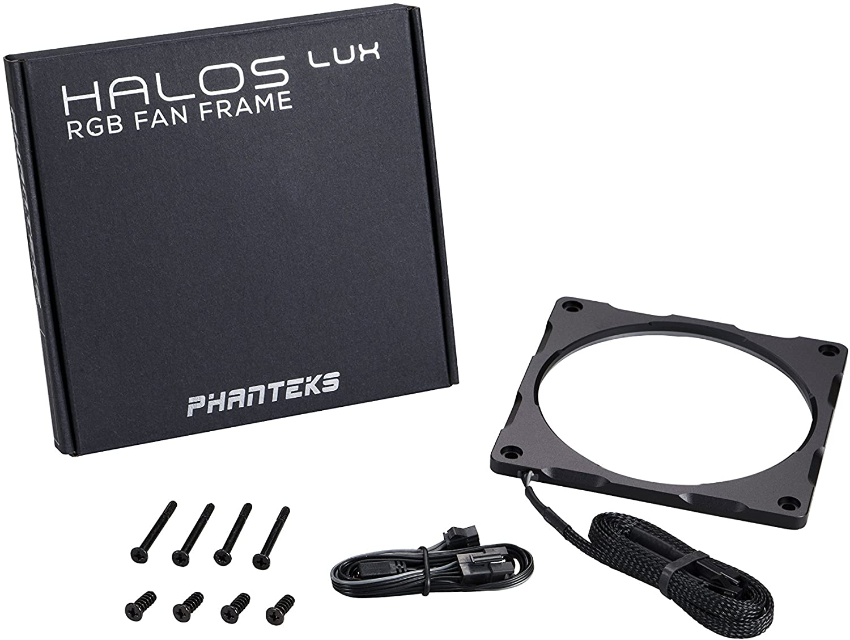 Phanteks PH-FF120RGBA_BK01 Halos Lux RGB Fan Frame High density LEDs RGB 120mm fan mounting,Black