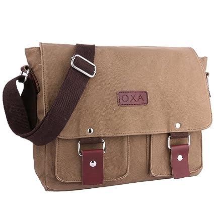 Image Unavailable. Image not available for. Color  OXA Vintage Canvas  Messenger Shoulder Bag ... 94db8d7eeb582