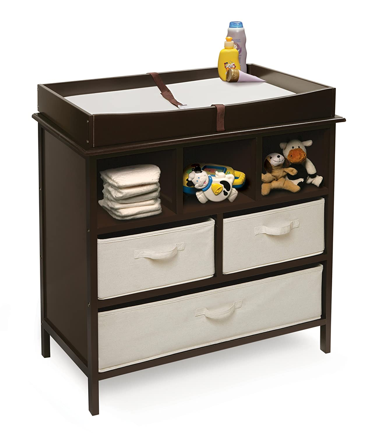 Amazon.com : Badger Basket Company Estate Baby Changing Table, Espresso :  Baby