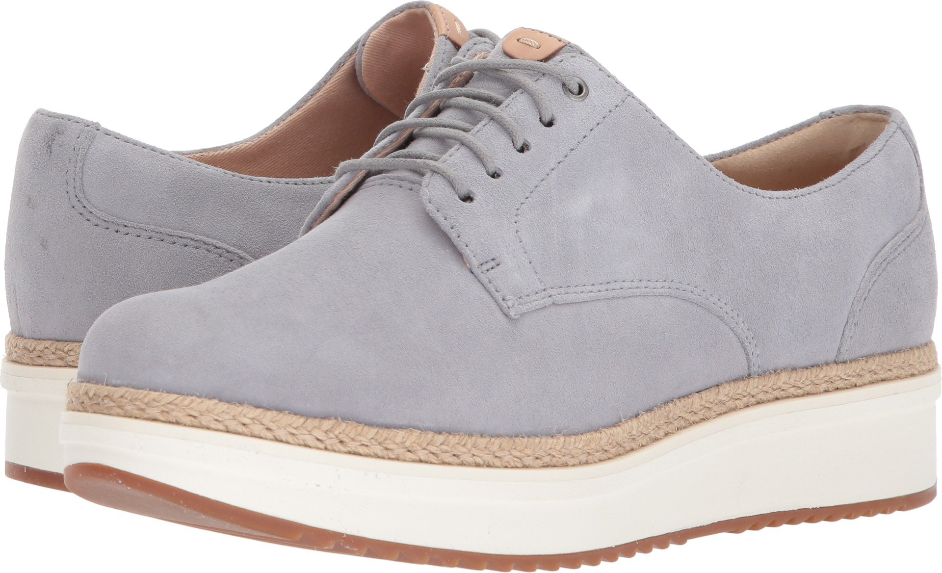 CLARKS Women's Teadale Rhea Light Grey Suede 10 B US