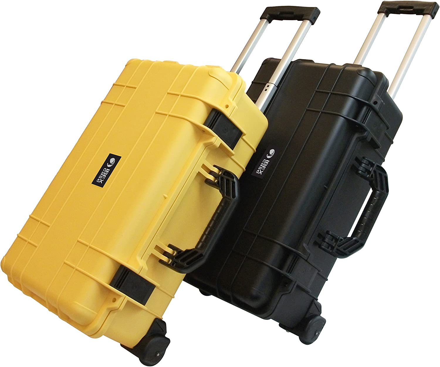 Cameras Tools IC-1800YLW Ibex Cases and More Equipment Yellow Watertight Carry On Hard Rugged Protective Case with Wheels and Handle for Electronics Drones