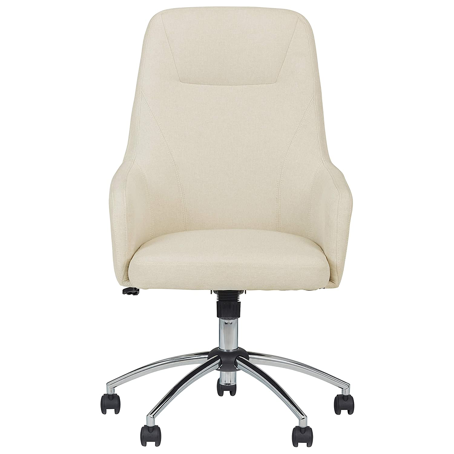Cool Stone Beam Modern Upholstered High Back Swivel Chair 25 2W Beige Cjindustries Chair Design For Home Cjindustriesco