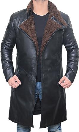 Swedish Bomber Leather Jacket Fur Coat Blingsoul Shearling Leather Coats for Men