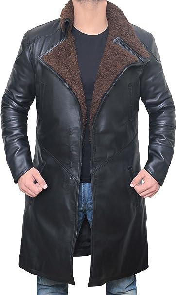 Amazon.com: Blingsoul - Abrigo de piel para hombre, color ...