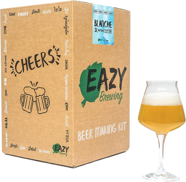 Witbier Cerveza blanca belga Eazy Brewing/®Kit de elaboraci/ón de cerveza de 5 litros Instrucciones en Espa/ñol Caja de regalo para preparar su propia cerveza artesanal