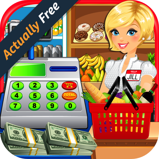 Supermarket & Grocery Store Simulator - Kids Cash Register,