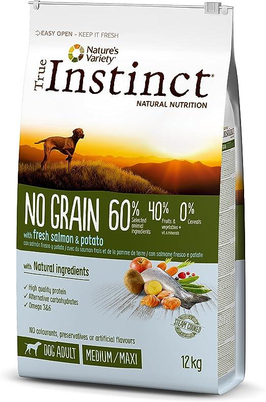 Oferta amazon: True Instinct No Grain - Pienso sin Cereales para Perro Adult Medium-Maxi con Salmón - 12kg