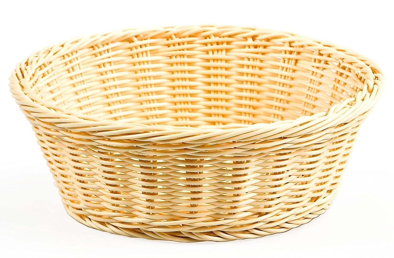 Amazon.com - Displays2go Round Woven Baskets, 9-3/8-Inch, Set of 12 -