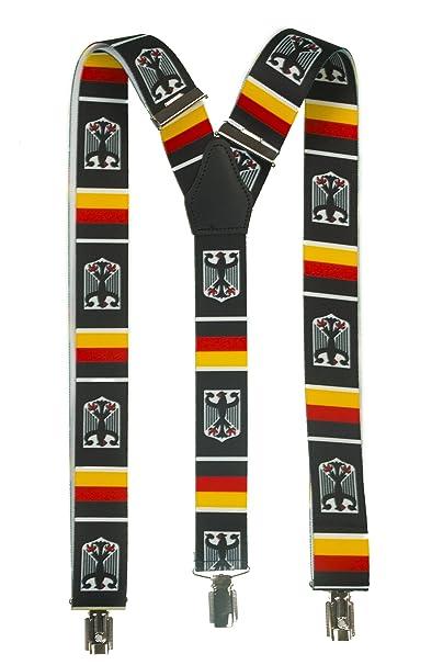 shenky - Bretelles en Y avec 3 pinces - motif armoiries de l Allemagne  b568d3ca0e4
