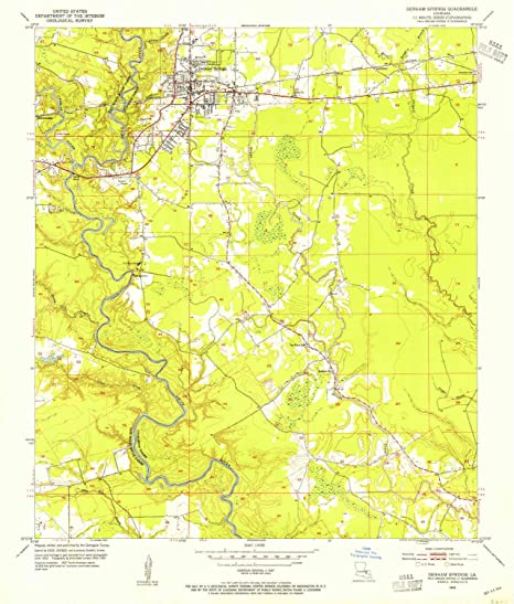 Amazon.com : YellowMaps Denham Springs LA topo map, 1:24000 ... on head of island la map, slidell la map, scott la map, de ridder la map, st. martinville la map, camp beauregard la map, west feliciana parish la map, franklinton la map, saint francisville la map, saint amant la map, metairie la map, florida la map, algiers la map, lafayette la map, farmerville la map, lake pontchartrain la map, st. francisville la map, tickfaw la map, washington la map, napoleonville la map,