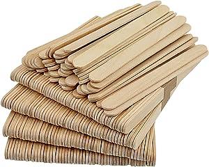 1Pack(50Pcs) Wooden Craft Sticks - Wooden Ice Cream Sticks Treat Sticks Freezer Pop Sticks Popsicle Sticks