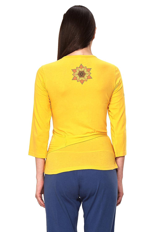 56a554726f969a DUSG Women s Manipura Chakra Yoga Wrap top at Amazon Women s Clothing store