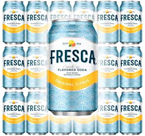 Fresca Original Citrus, Sparkling Flavored Soda, 12 oz Can (Pack of 18, Total of 216 Oz)